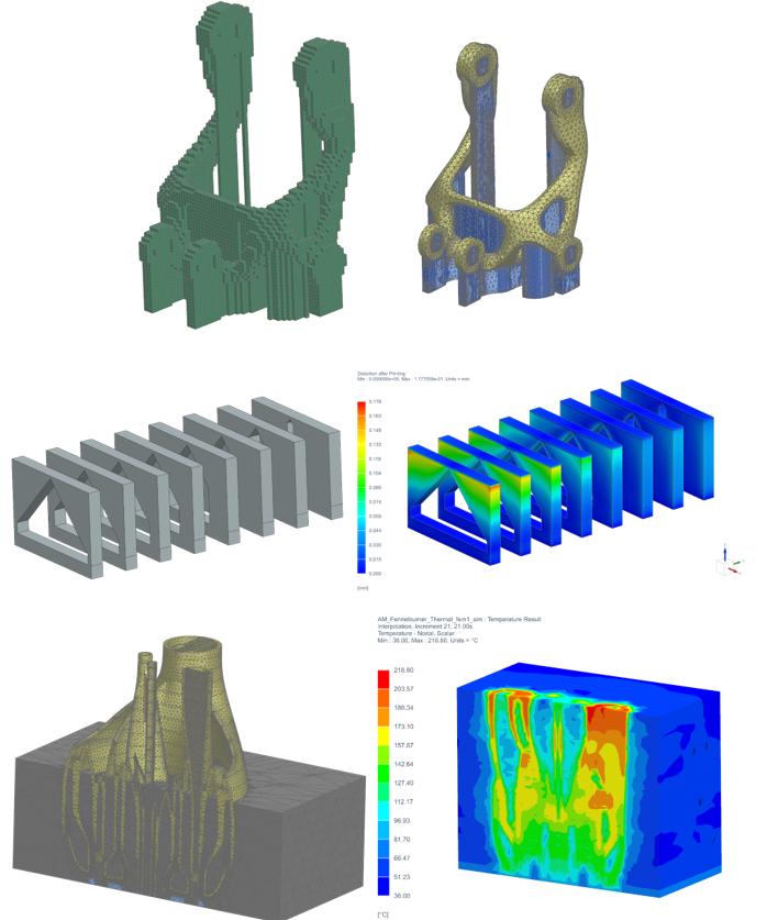 Symulacja numeryczna wydruku komponentu z metalu i kalibracja drukarki