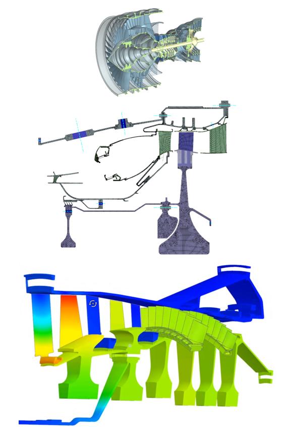 Obliczenia gazodynamiczne na elementach turbinowych i przenoszenie danych z analiz 2D na modele 3D