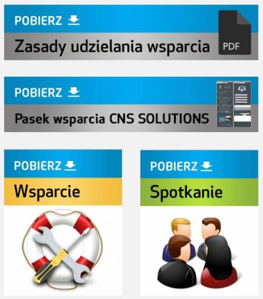 Pasek wsparcia oprogramowania SolidWorks by CNS Solutions