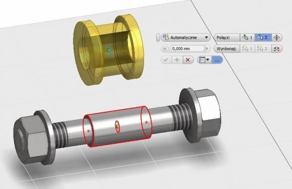 Autodesk Inventor 2015 - Wiązanie - Połączenie