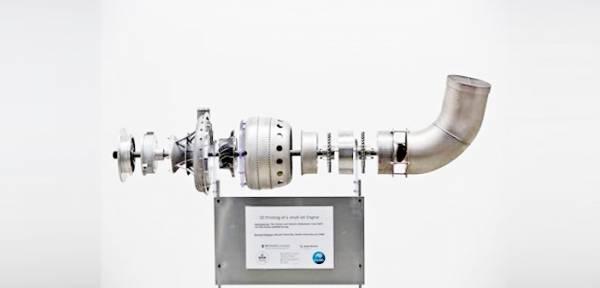 Kompletny silnik turbowałowy wykonany w technologii DMLS na uniwersytecie Monash Źródło: Uniwersytet Monash - Melbourne