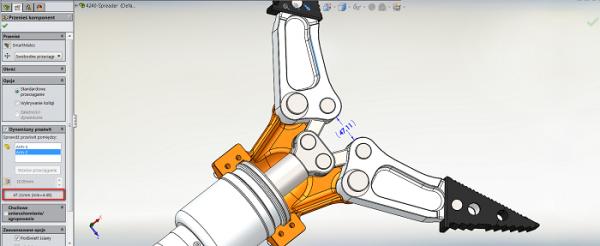 sprawdzanie prześwitu w SolidWorks