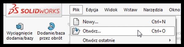 plik otwórz menu rozwijalne