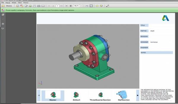 Inventor 2017 – zapis do PDF 3D