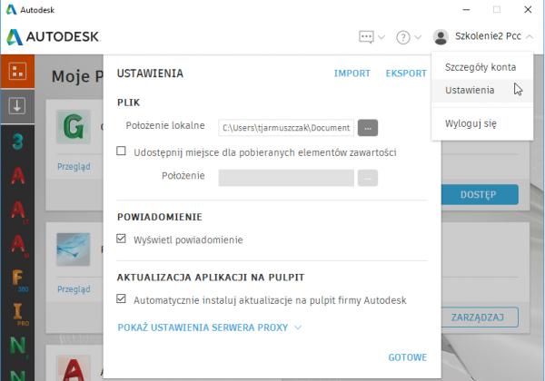 Autodesk Desktop App – aplikacja na pulpit