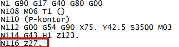 poziom bezpieczny gcode