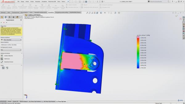 solidworks simulation kopiowanie badania