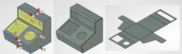 T-FLEX CAD arkusz blachy - projektowanie elementów blaczanych