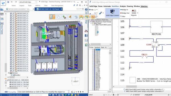 Solid Edge 2020 instalacje elektryczne i PCB