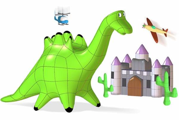SOLIDWORKS Apps for kids - projekt 3d dinozaur dino