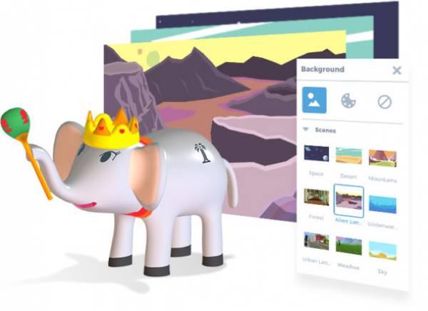 Apps for kids - oprogramowanie online dla dzieci - projekt słonia