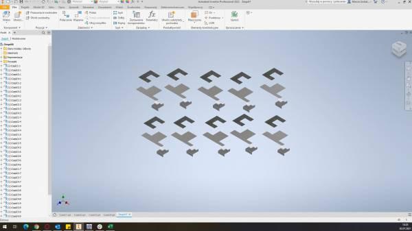 Inventor - kopiowanie elementów z blachy