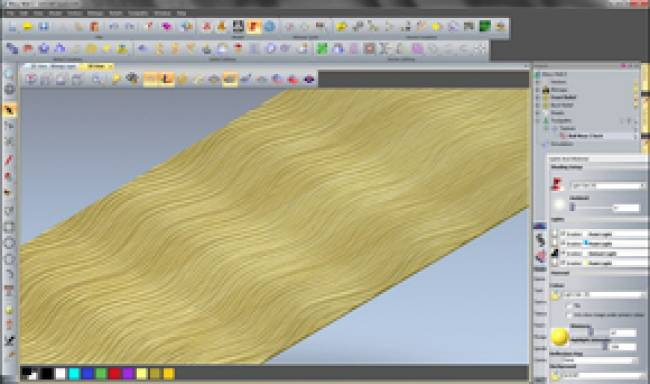 The texture module for ArtCAM Express can show the effect of textures on wood panels