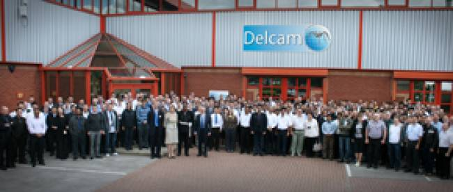 Delcam staff at the presentation of the company's latest Queen's Award