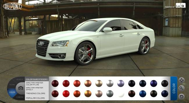 The new real time, web-based Configurator to view DuPont Color Collections